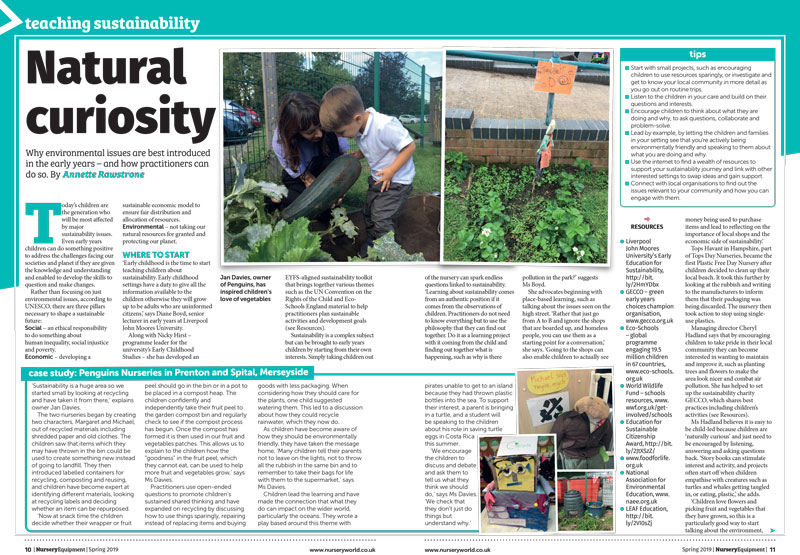Teaching sustainability, Nursery World / Nursery Equipment supplement 2019